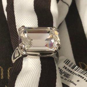 Henri Bendel Waldorf Cocktail Ring Crystal Rock 8